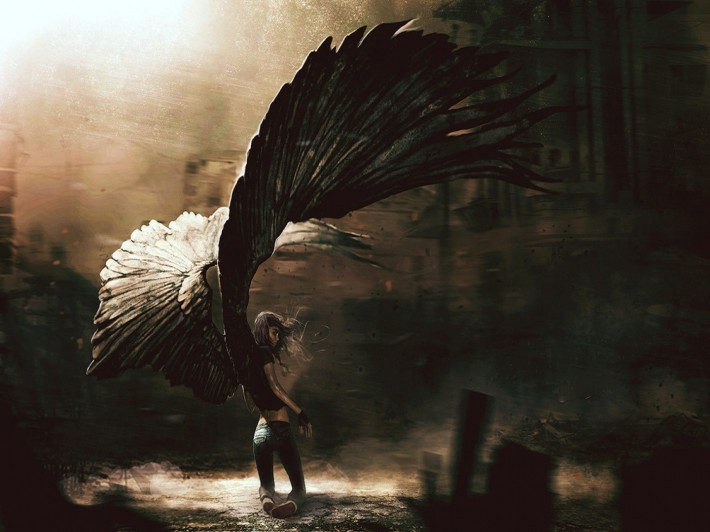 gothic-winged-angel